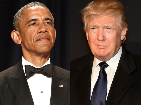 president obama with donald trump 2015 gossip