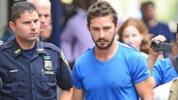 shia labeouf arrested for public drunkeness 2015 gossip