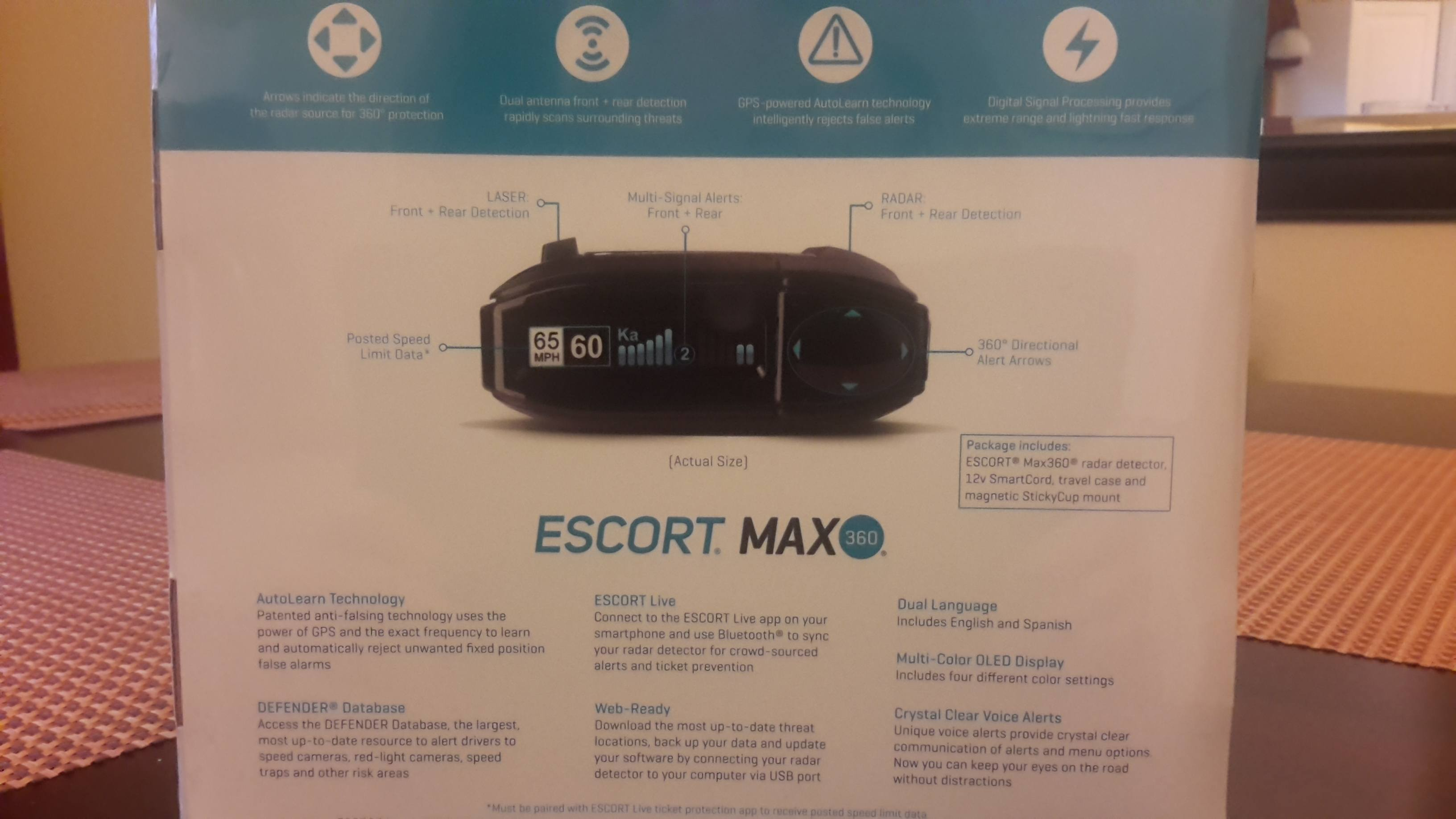 escort max radar 360 back package 2015
