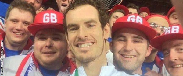 andy murray takes davis cup 2015 tennis images