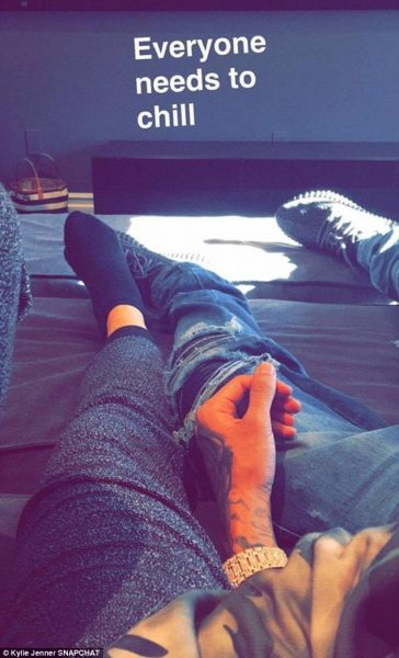 kylie jenner snapchat with tyga 2015 gossip