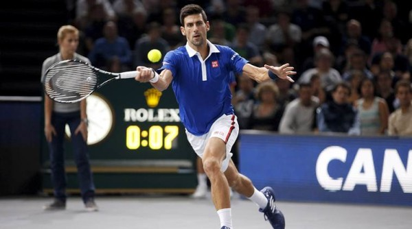 novak djokovic knocks andy murray out of paris masters 2015 images