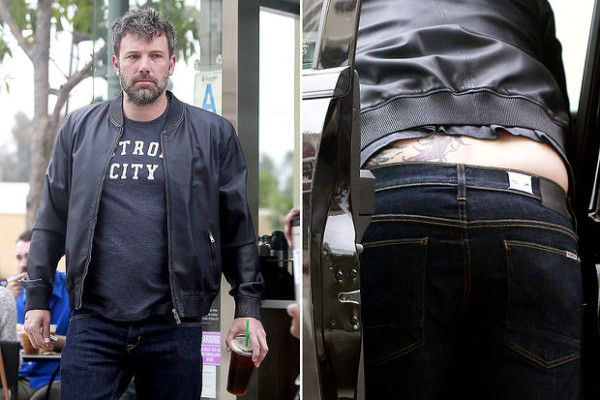 ben affleck phoenix tattoo but shot bulge 2015 gossip