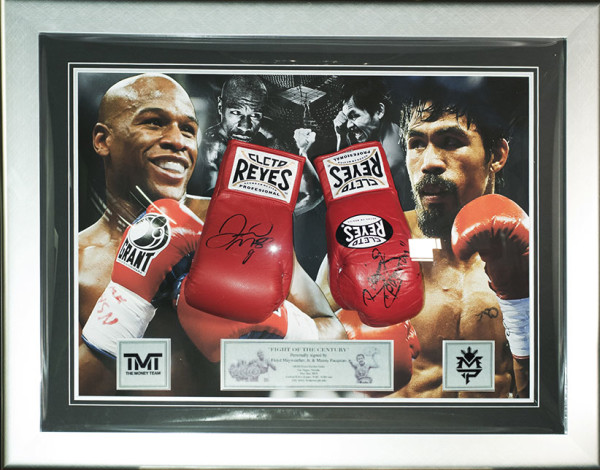 floyd mayweather manny pacquiao gloves