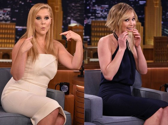 jennifer lawrence amy schumer not letting globes get between them 2015 gossip