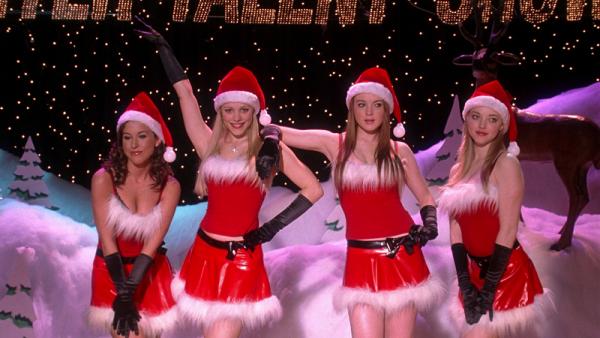 sexy female santas mean girls lindsay lohan 2015