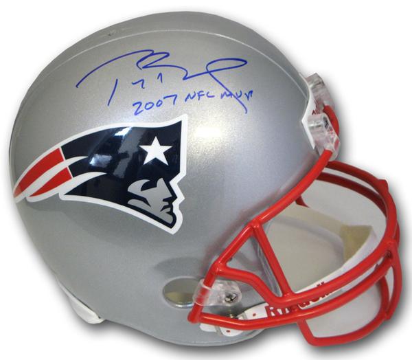 tom brady autographed patriots helmet