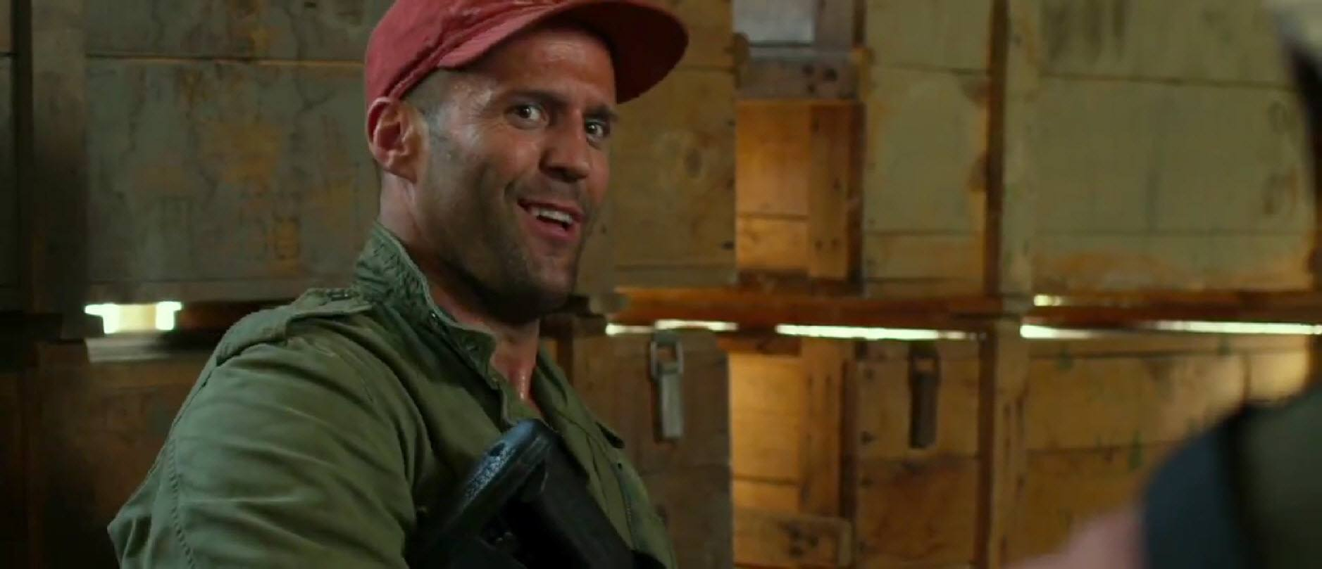 jason statham smiling bulge in expendables 3 images
