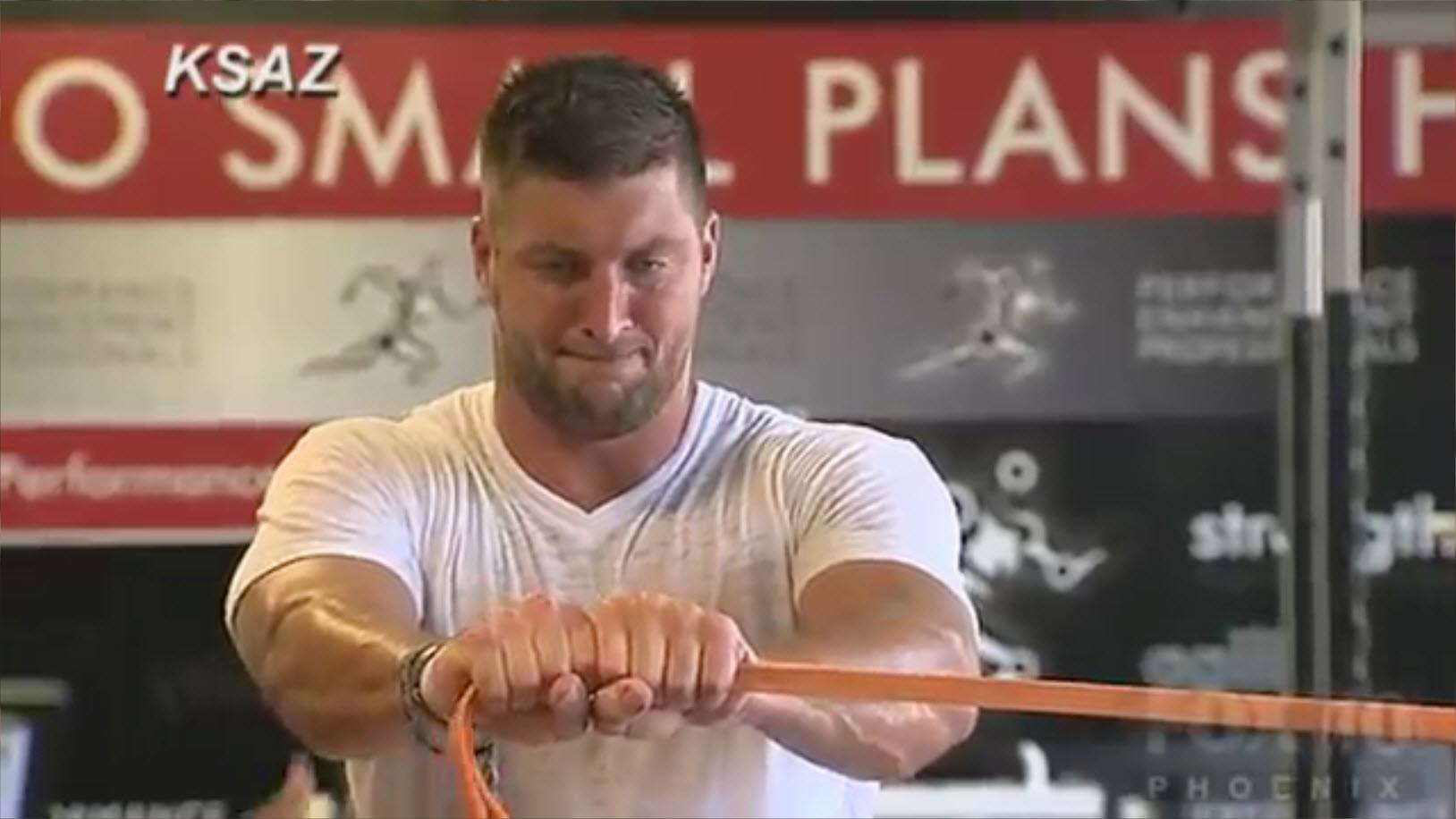 tim tebow woody nfl training images 2014