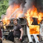 walking dead burning bus for abraham self help images
