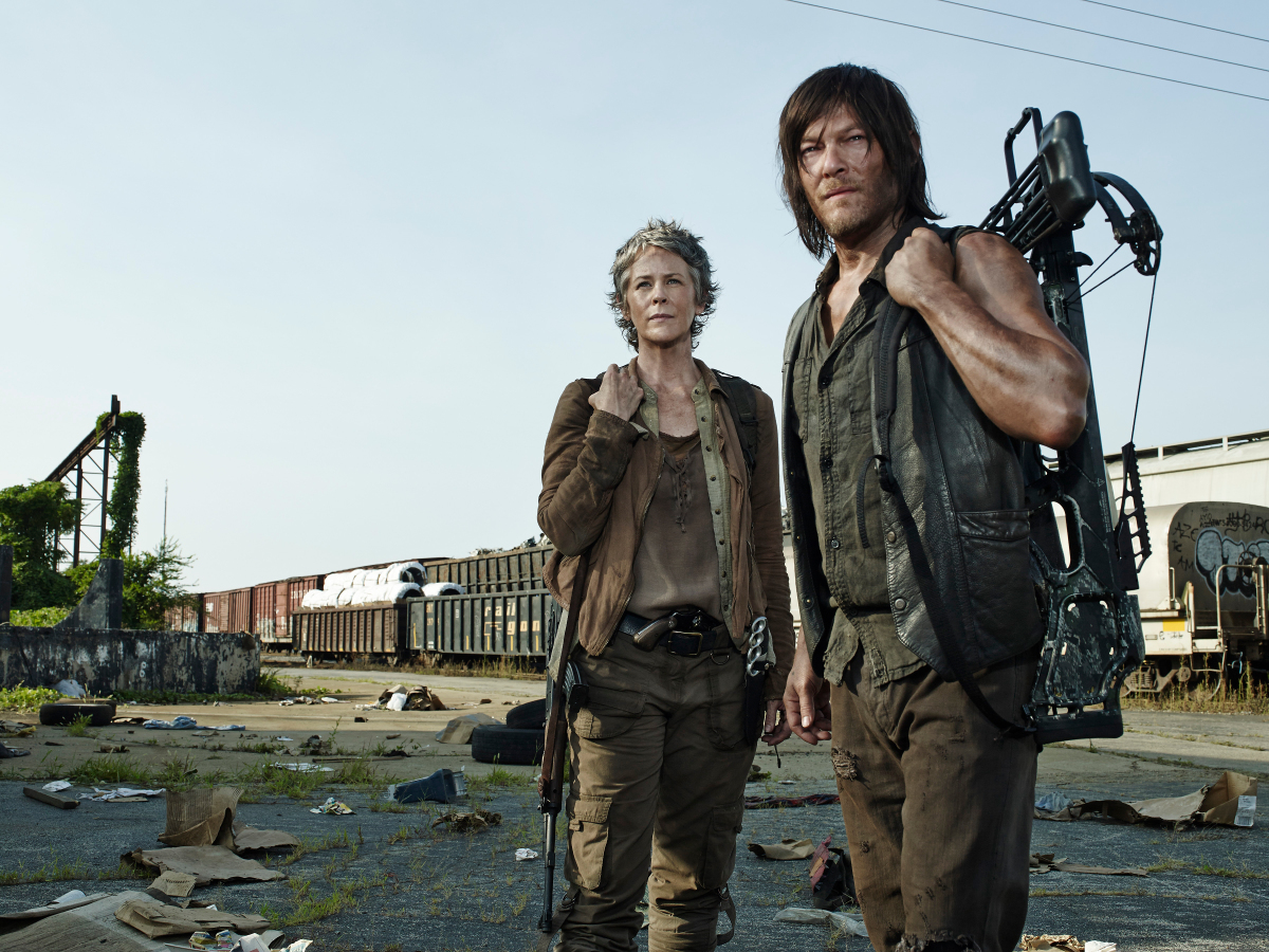 walking dead season 5 consumed images with carol darryl