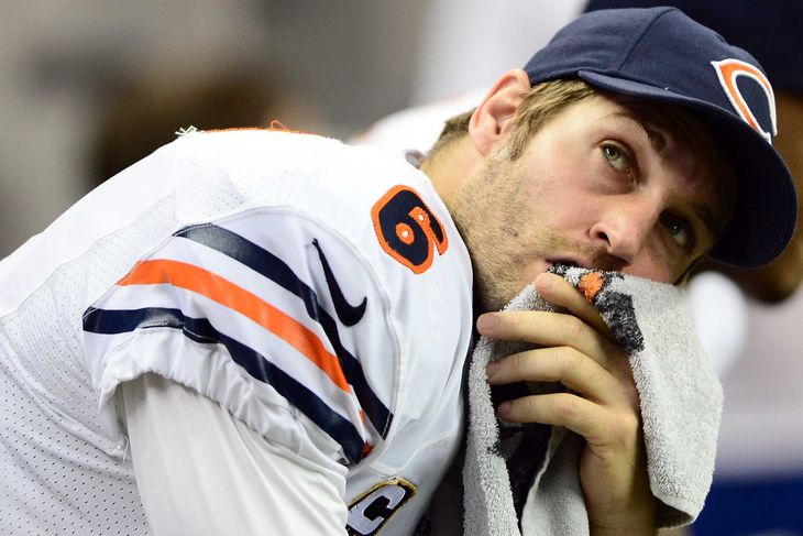 chicago bears benched jay cutler for jimmy clausen bugle 2014 nfl season images