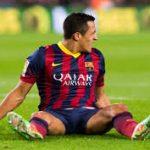 alexis sanchez bulge joins arsenal soccer league 2014 images