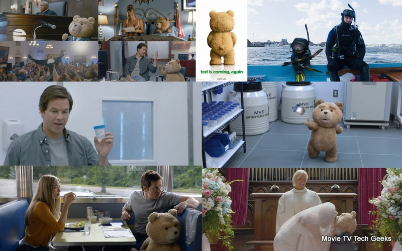 americas favorite nasty teddy bear back with ted 2 trailer images