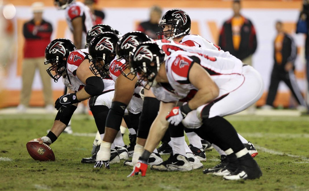 atlanta falcons offensive line bulge tight 2014