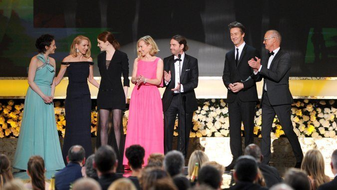 birdman cast receives sag award for best picture 2015 images