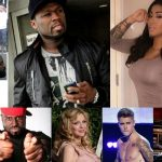 celebrity gossip 50 cent drama courtney love justin bieber couple up