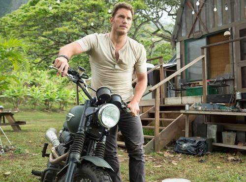 chris pratt bare riding back with indiana jones reboot film