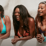 claudia jordan kenya moore with cynthia for real housewives of atlanta 2015
