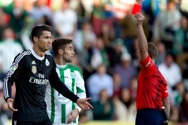 cristiano ronaldo gets flagged for fisting cordoba player 2015