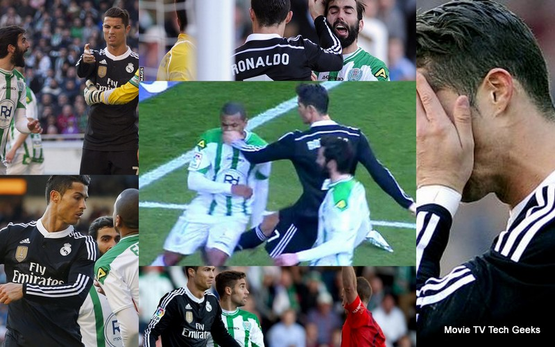 cristiano ronalds gets two game ban for fist job on corboda players face