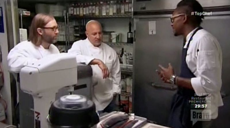 gregory talking technique to tom colicchio on top chef boston 2015