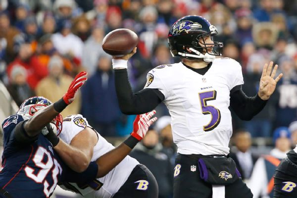 joe flacco ravens passing against patriots but losing nfl 2015 images