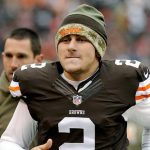 johnny manziel biting lips for cleveland browns 2015