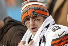 johnny manziel tight bulge spot for cleveland browns 2015