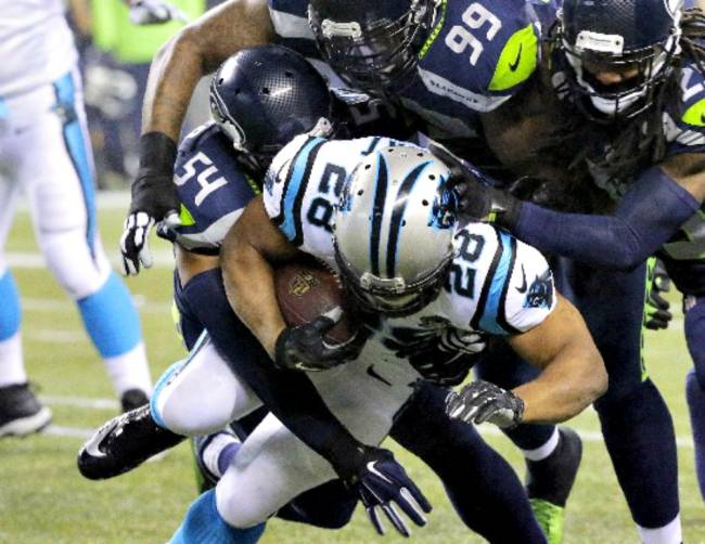 jonathan stewart loses panthers ball to seahawks nfl 2015