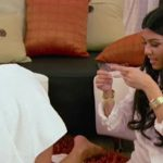 kourtney kardashian giving kim bikini wax hair 2015