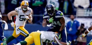 marshawn lynch gets sacked in bulge by packers 2014