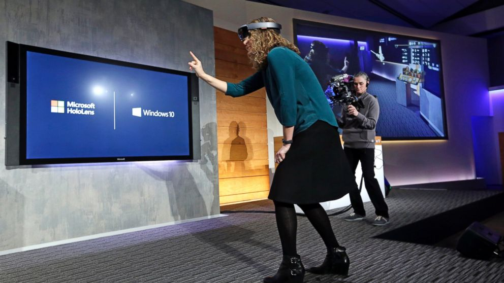 microsoft hololens hot chick fingering air bubbles 2015