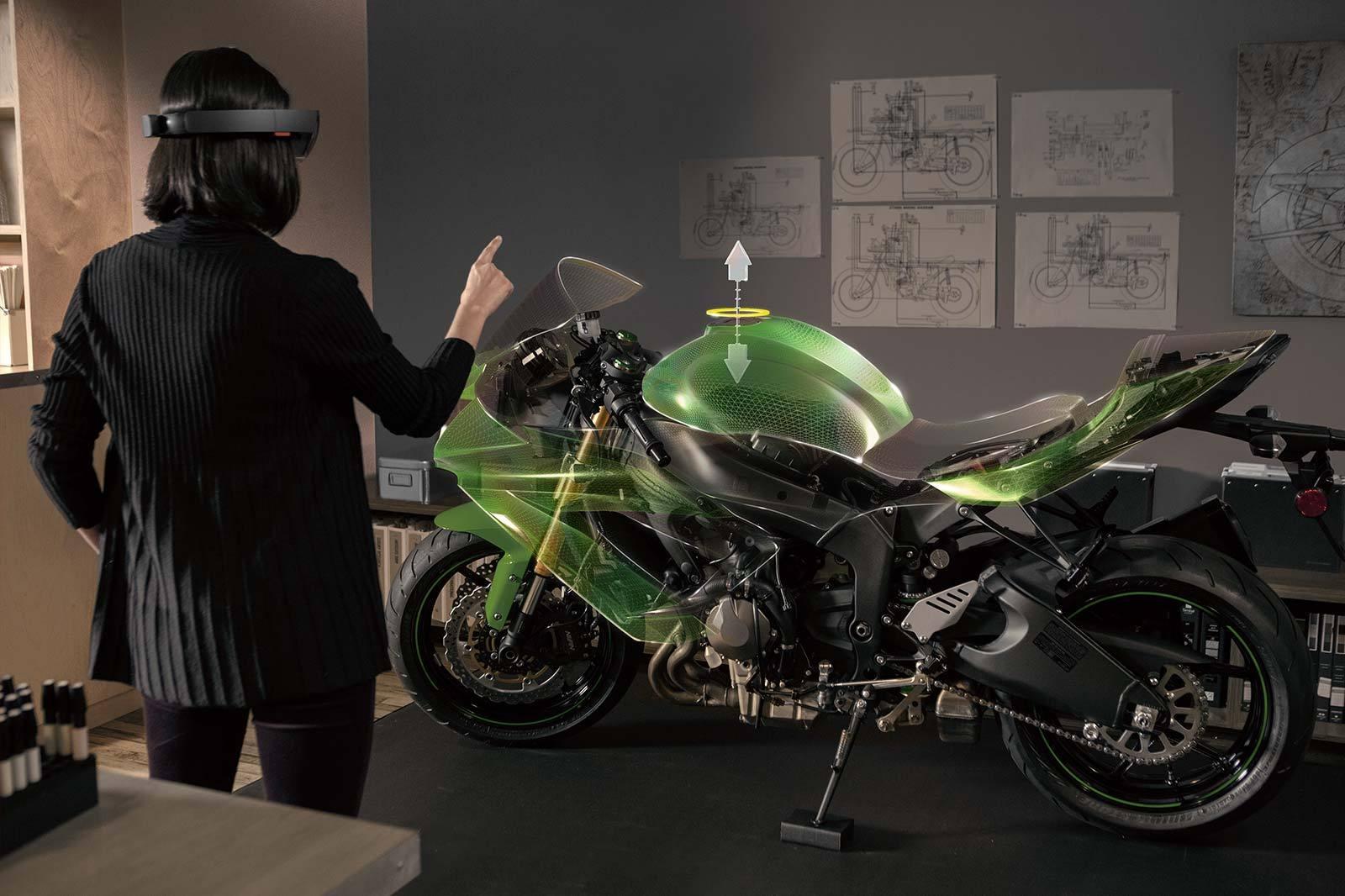 microsoft hololens motorcyble builder 2015