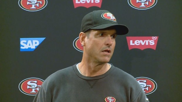nfl coach jim harbaugh press conference 2014