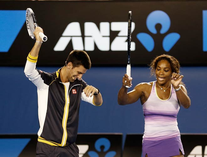 novak djokovic serena williams survive australian open quarter finals 2015 images