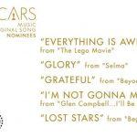 oscar noms for Original Song 2015