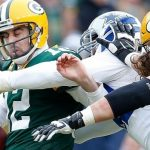 packers aaron rodgers sacked by cowboys jerremy mincey nfl 2015 images