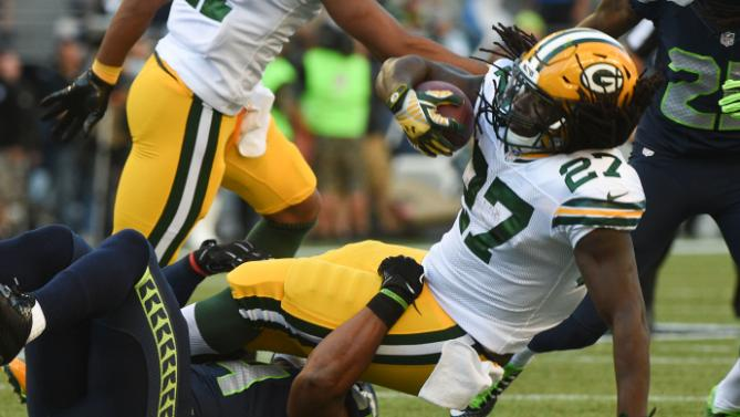 packers eddie lacy concussion against seahawks nfc champs 2015