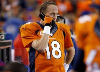peyton manning takes on denver scoreboard operator