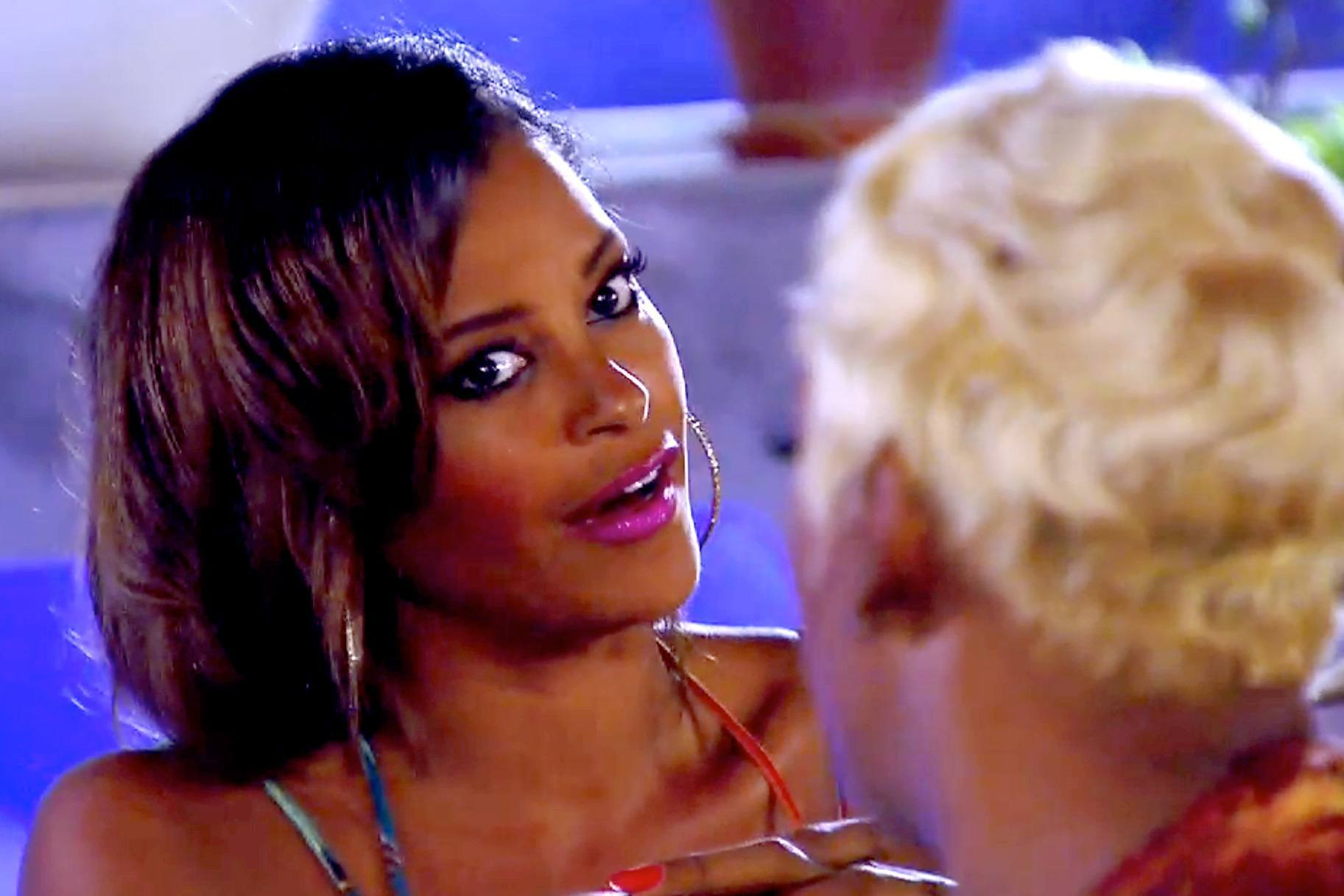 real housewives of atlanta claudia jordan throws shade right back on nene leakes 2015