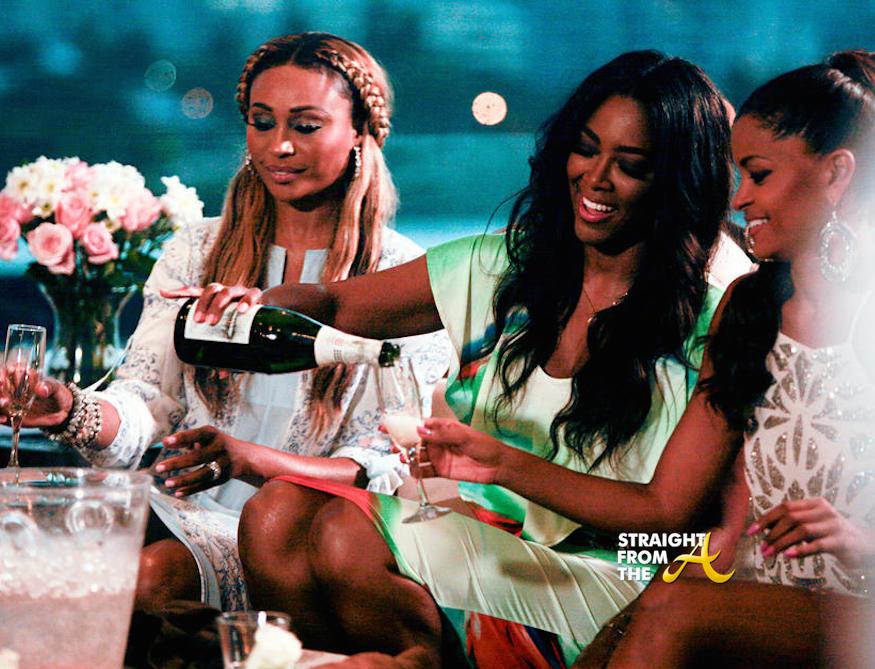real housewives of atlanta cynthia kenya and claudia drinking puerto rico images