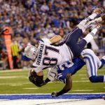 rob gronkowski jumps colts davis for touchdown patriots 2015