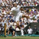 roger federer jumping bulge tennis shots 2015