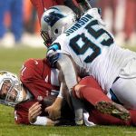 ryan lindley taken down by panthers nfl wildcard 2015 imagtes