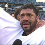 seahawks russell wilson emotional after beating packers nfc champs 2015