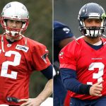 super bowl xlix predictions with tom brady russell wilson images
