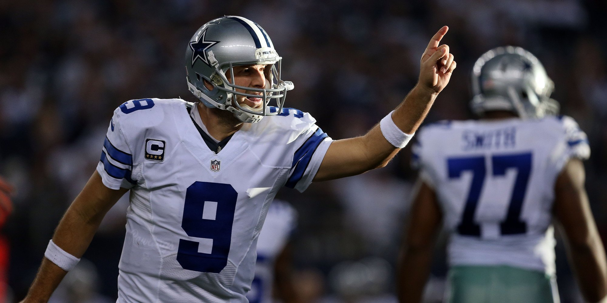 tony romo beats off cowboys detroit lions nfl wildcard 2015