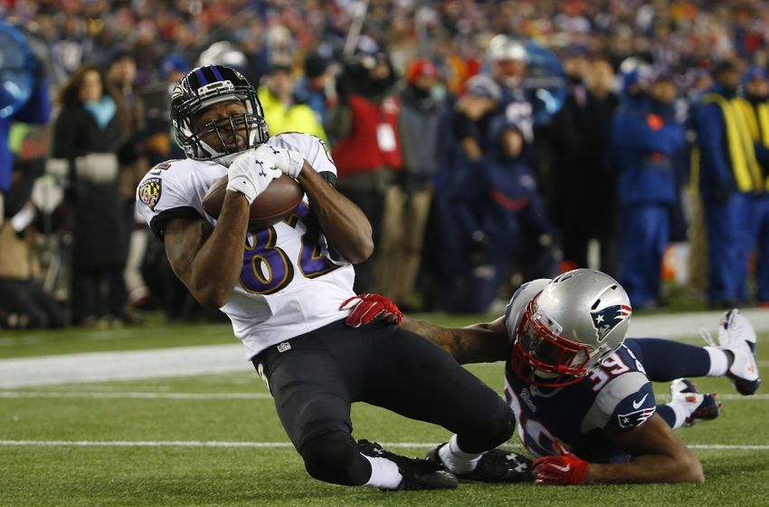 torrey smith pass from flacco ravens lose to patriots 2015 nfl