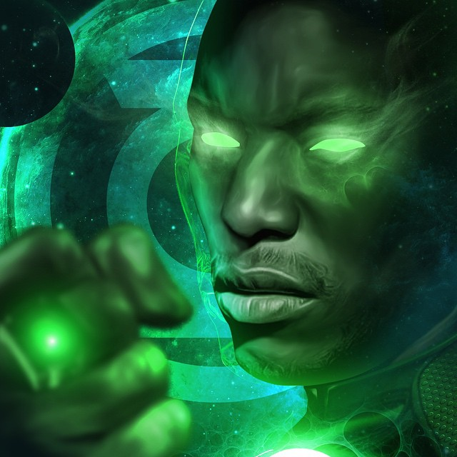 tyrese gibson green lantern artwork 2015 images